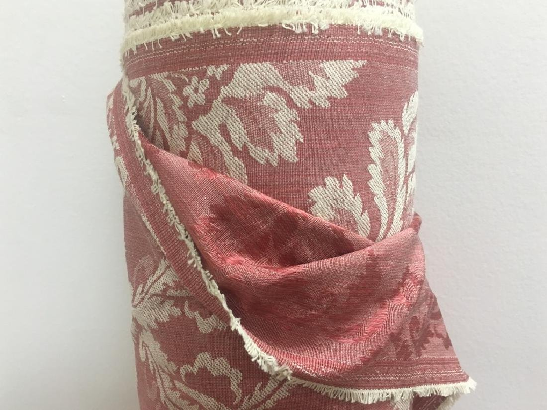 Two Tone Cotton & Polyester Damask Floral Fabric - 3