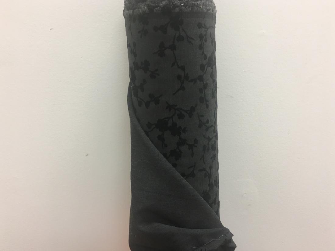 Black Folks Velvet Fabric, Floral Design