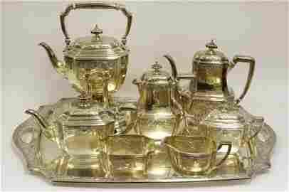 8 Piece Tiffany & Co. Makers S/S Coffee & Tea Set