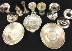 10pc Group Lot of Sterling Silver Items