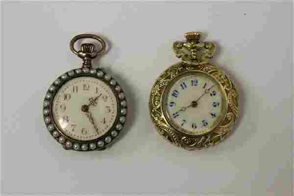 2 Antique Gold Filled Pocket Watches