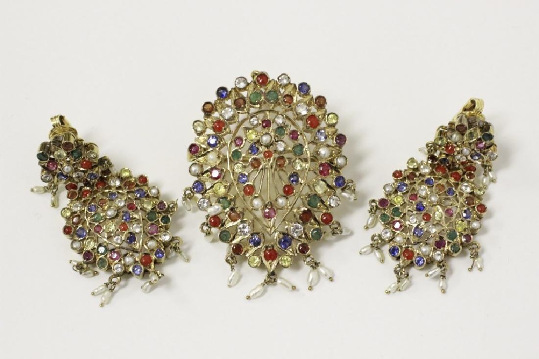 Unusual 9K Gold Jewelry Set in Original Fitted Box