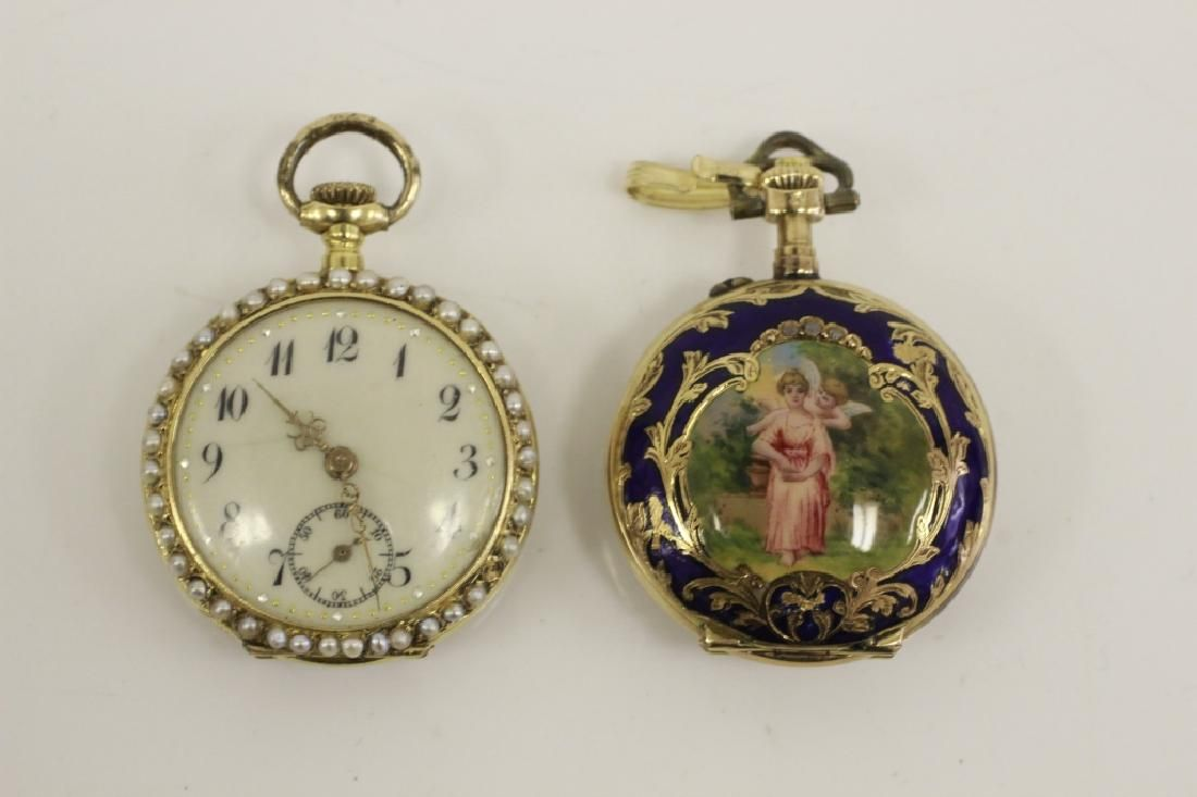 2 Early Gold & Enamel Pocket Watches