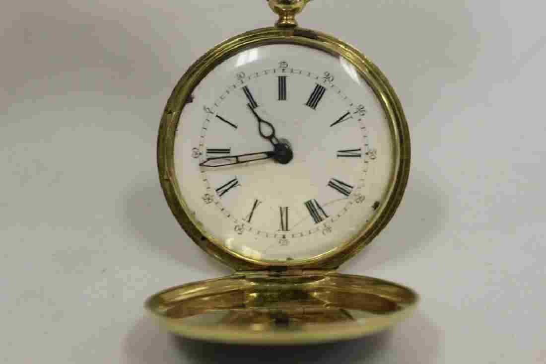 Rare 18k Gold, Enamel & Diamond Pocket Watch