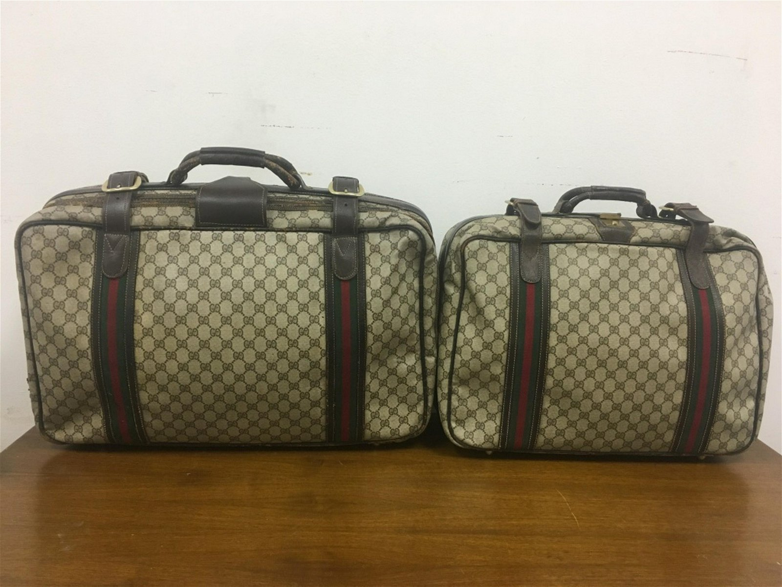 2 Vintage Gucci Luggage Bags