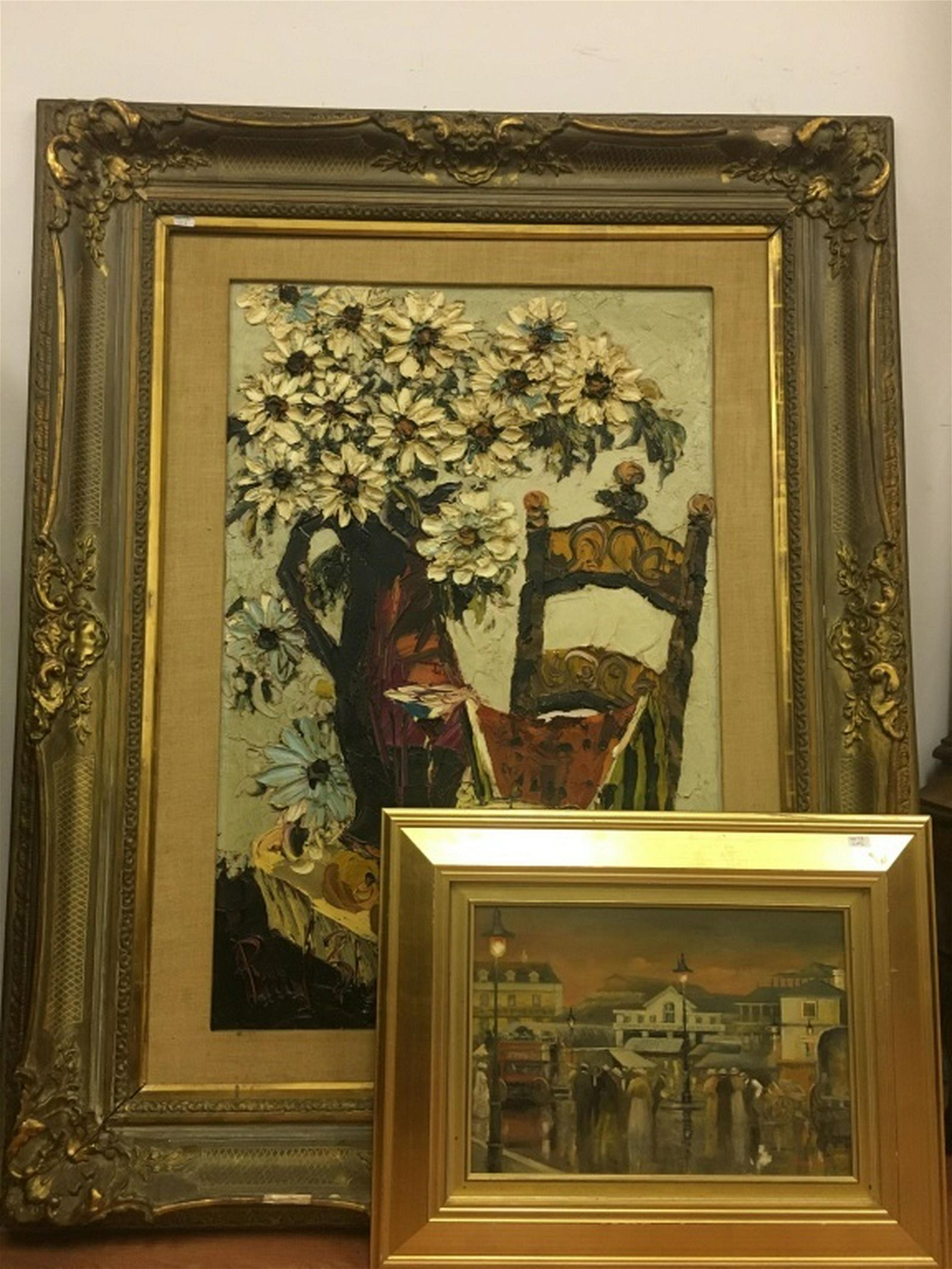 2 Mid Century Oil Paintings Including Paul Blaine