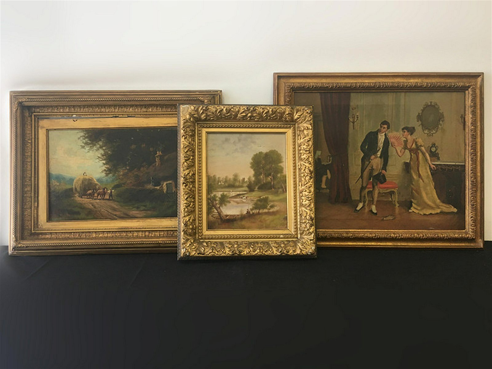 Group of 3 Late 19th/Early 20thC Oil Paintings