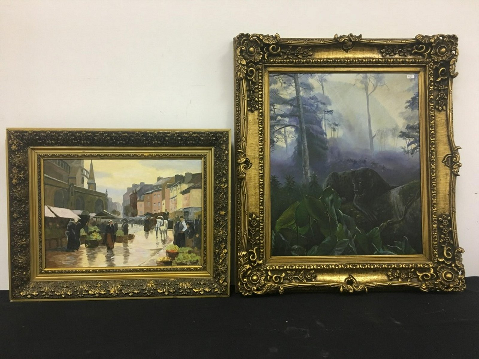2pc Lot of 20thC O/C Paintings