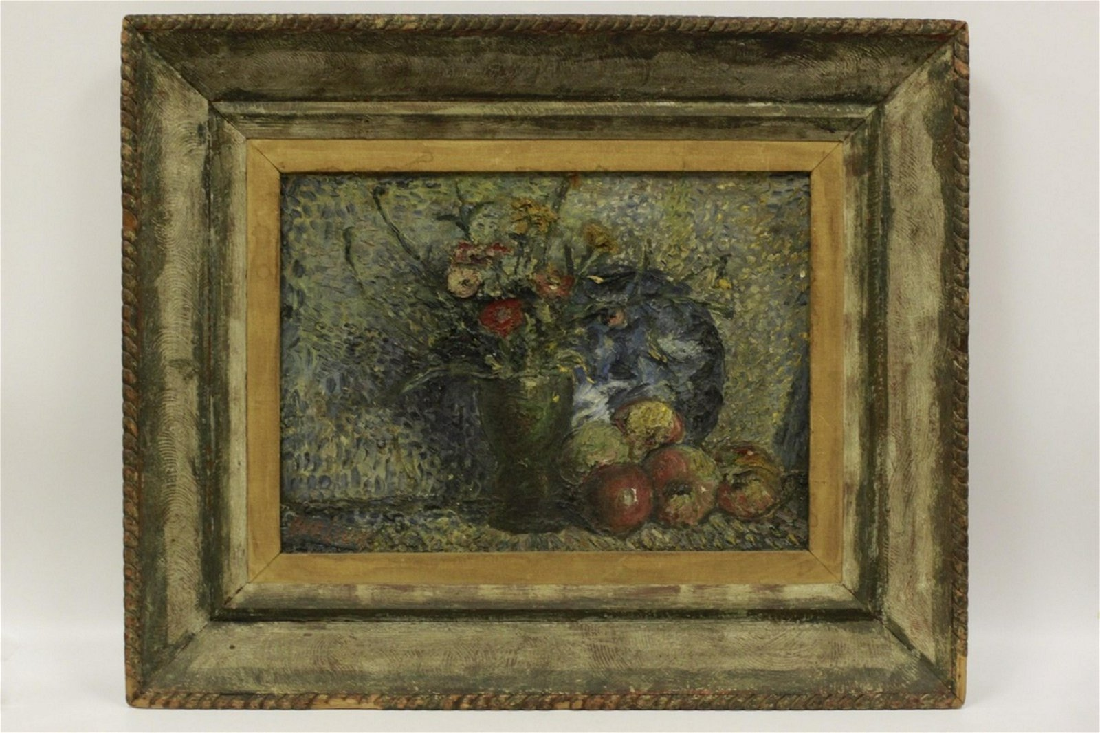 David Burliuk, Russian (1882-1967) O/C Still Life