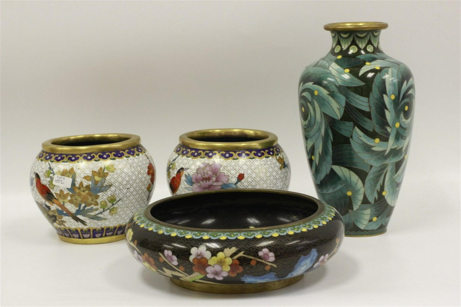 4 Chinese Cloisonne Items