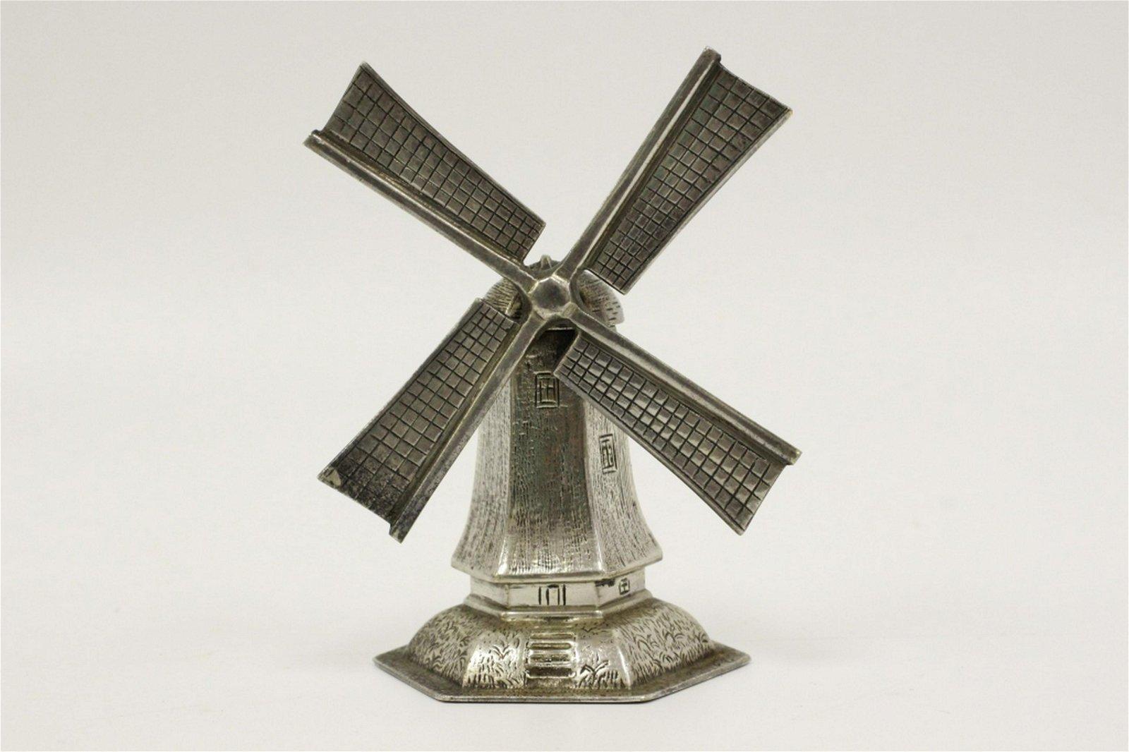 900 Silver Hallmarked Judaica Windmill Besamim Box