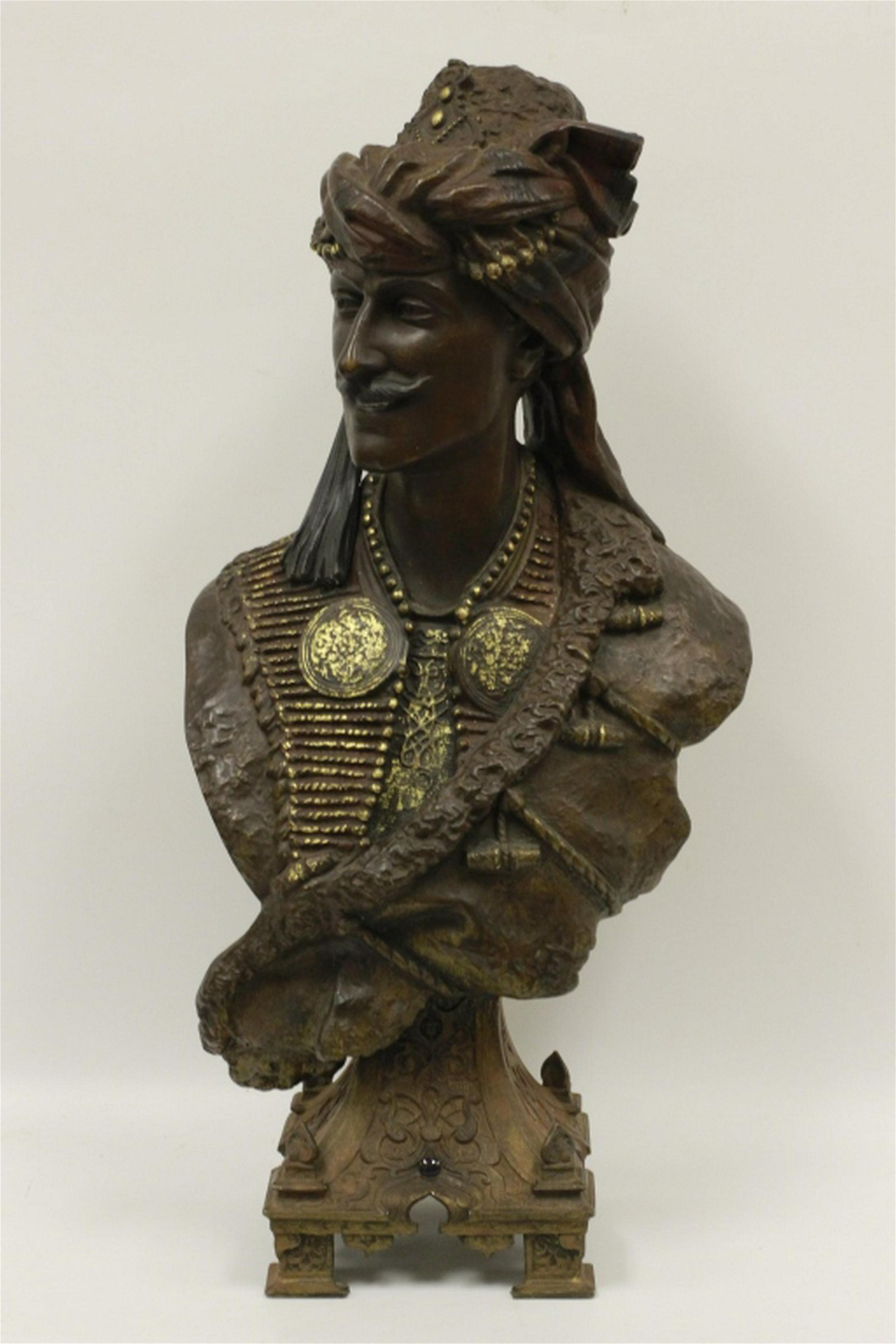 19thC French Spelter Art Nouveau Figure of Arab
