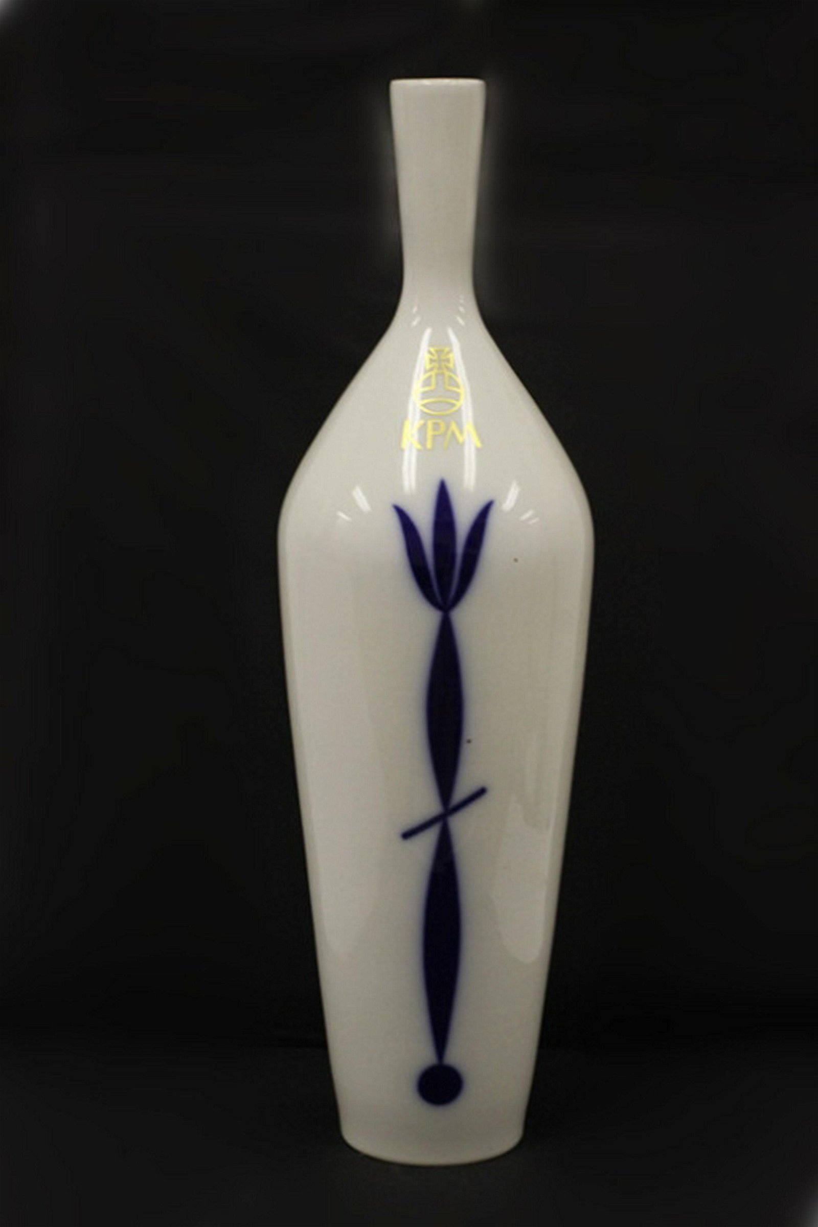 KPM Berlin German Tall Porcelain Vase Circa 1990's