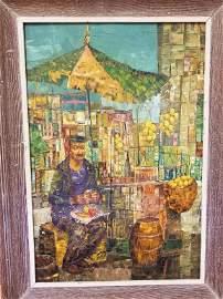 Herbert Russin, Russian (1915-2011) Oil on Board