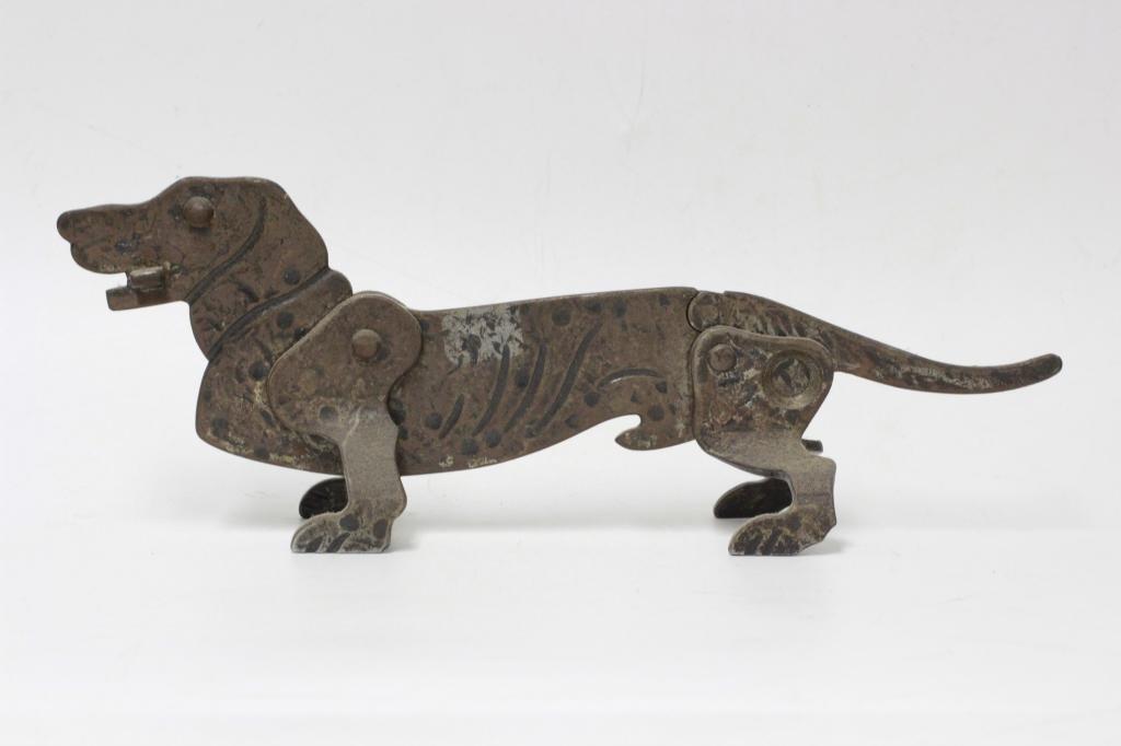 Figural Cast Iron Dachshund Dog Cigar Cutter