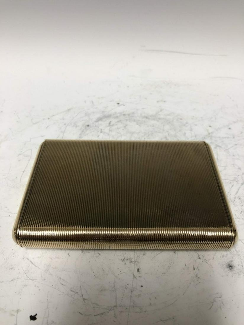 French Sterling Silver Art Deco Gilded Makeup Case