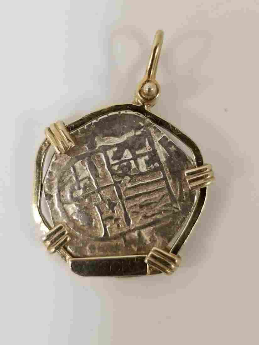 Spanish Silver Coin Pendant from Atocha Shipwreck