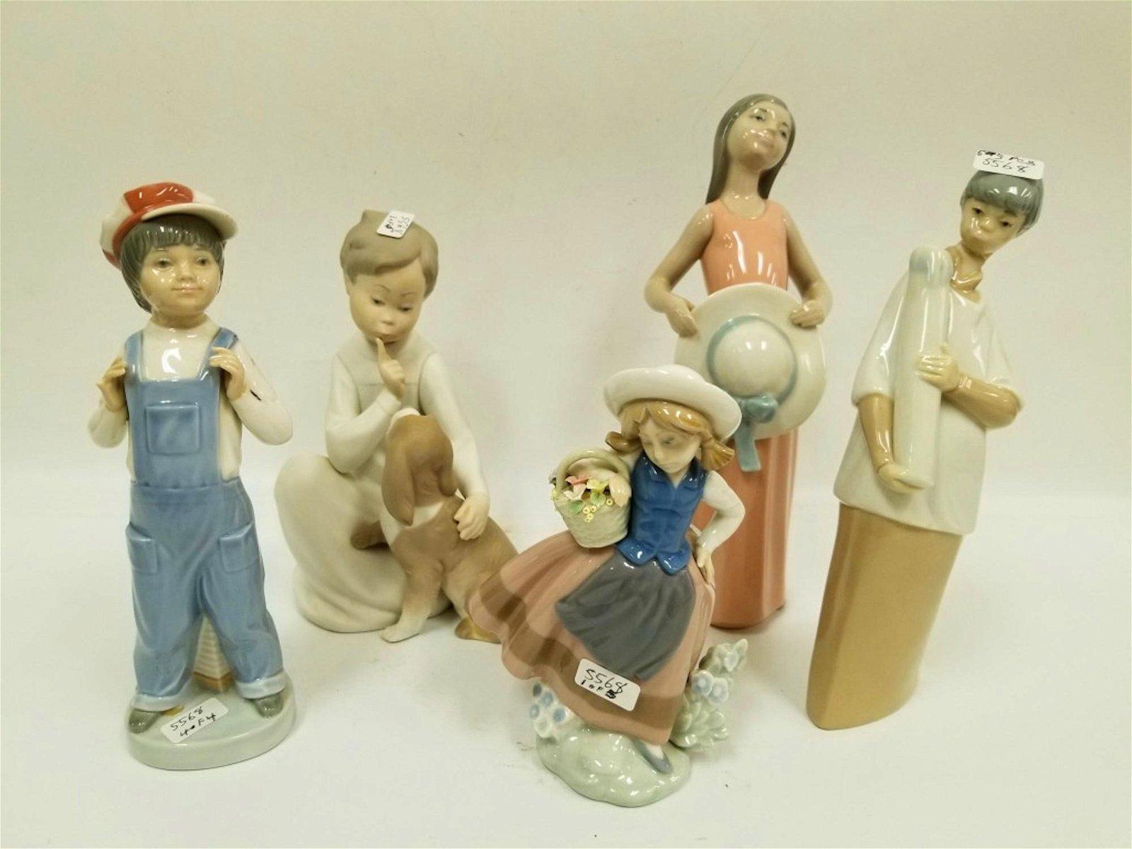 5 Lladro Figures of Children