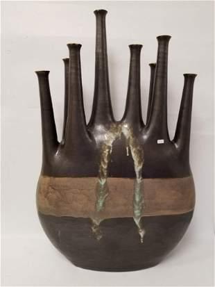 Bruno Gambone Monumental Glazed Stoneware Vase