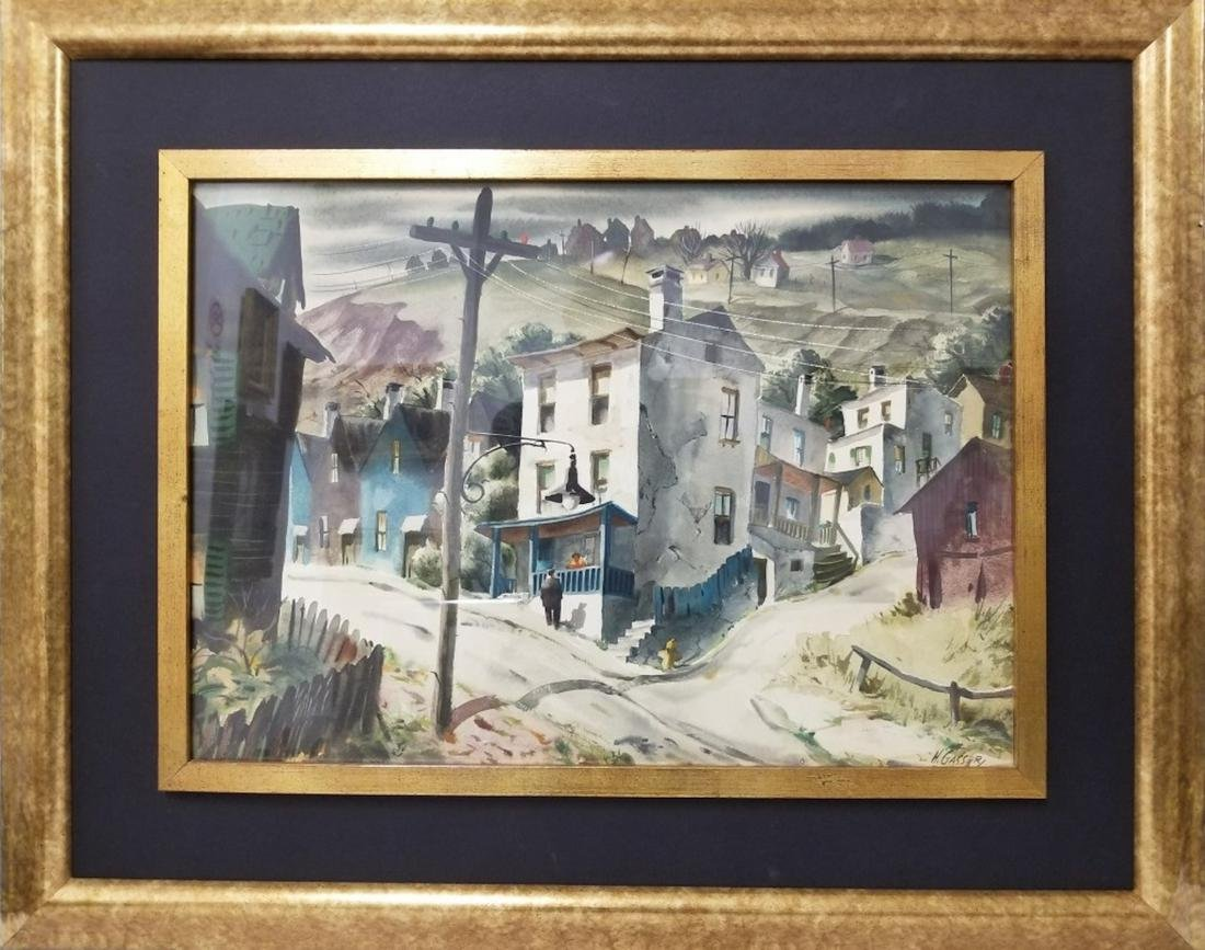 Henry Gasser, American (1909-1981) Watercolor