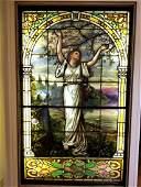 John LaFarge Large painted leaded glass window