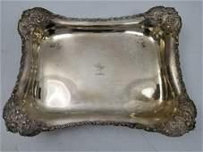 Rare  Unusual Tiffany  Co Sterling Silver Tray
