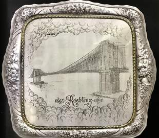 Monumental Rare Gorham Sterling Silver Tray