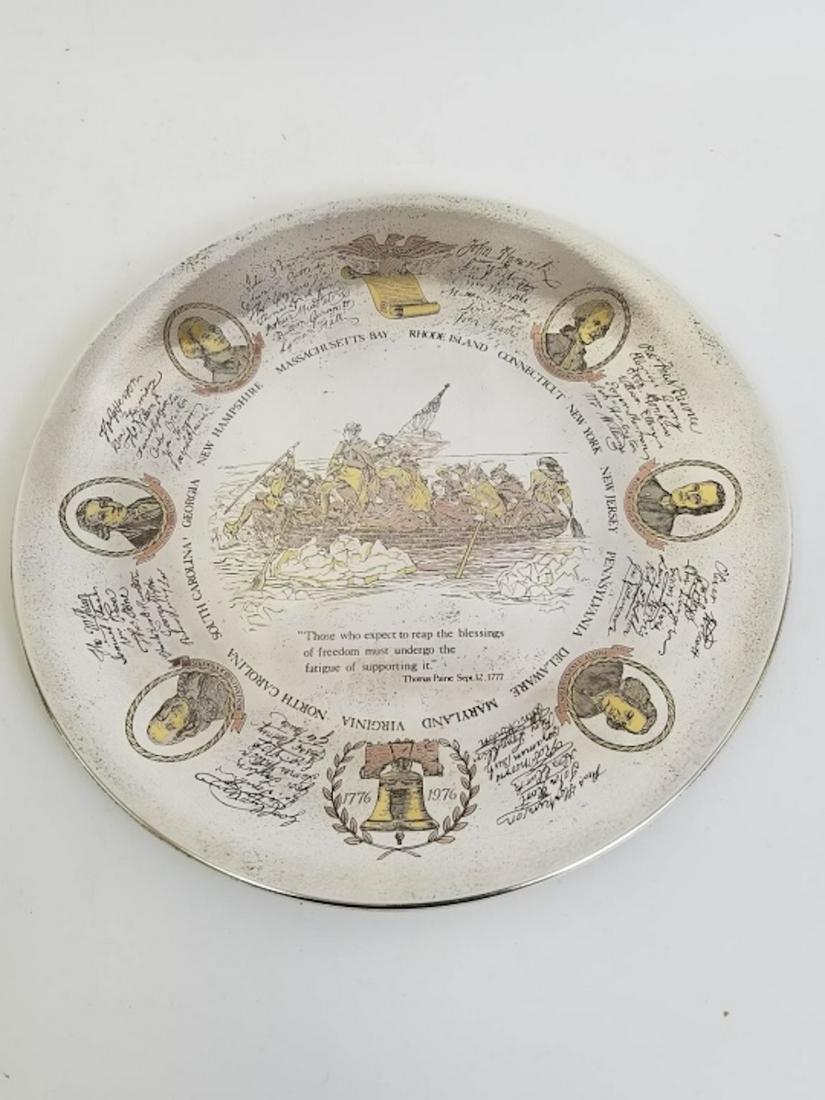Reed & Barton Sterling Silver Bicentennial Plate