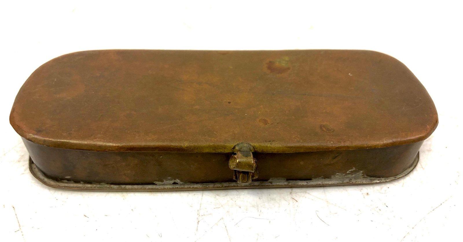 18thC Pocket Tobacco Brass Box
