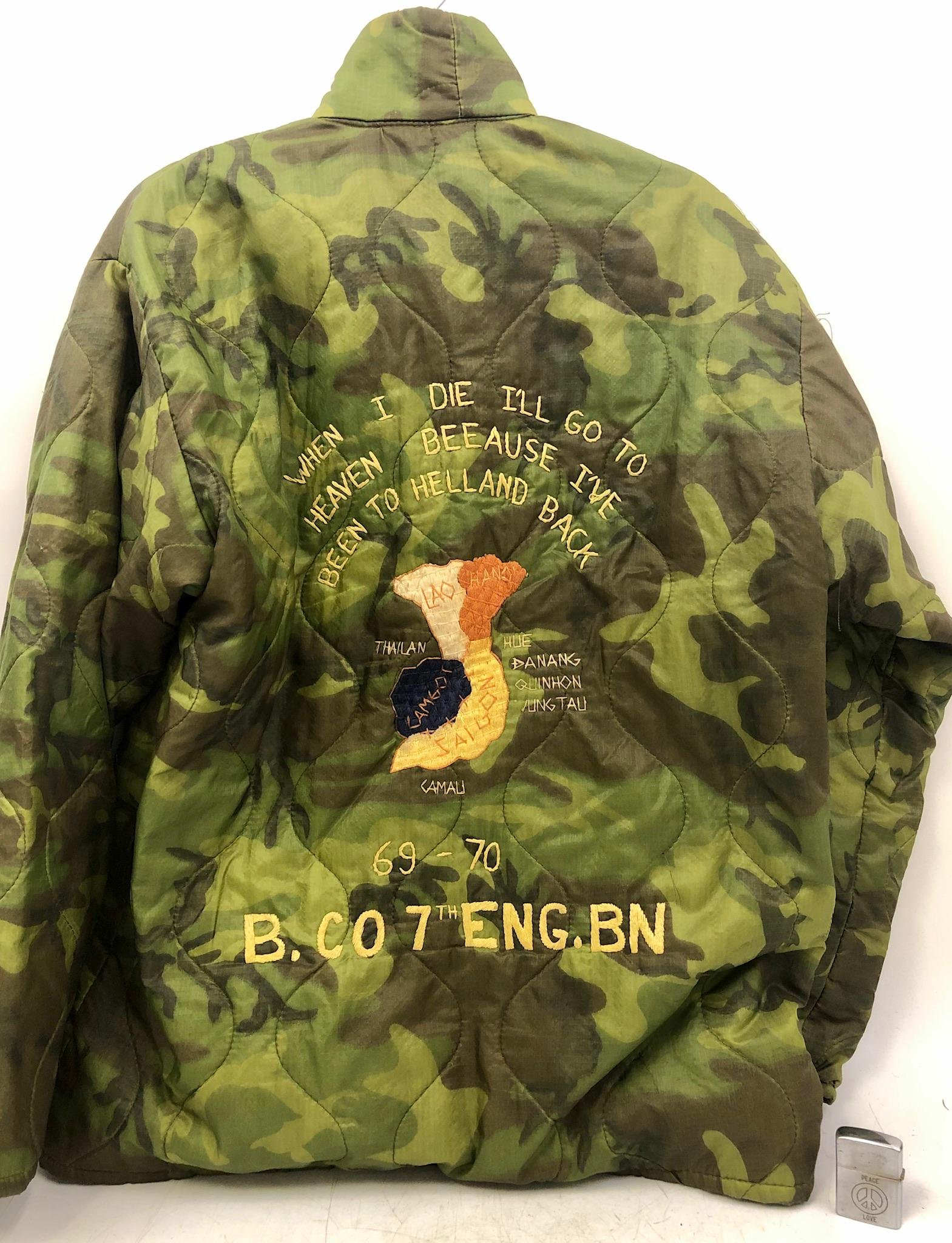 Vintage Vietnam War Era Jacket & Lighter