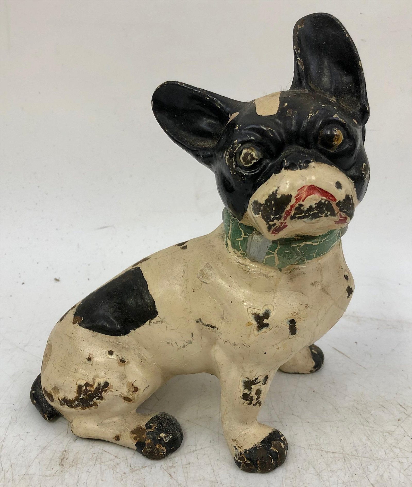 Vintage Bulldog Enameled Cast Iron Doorstop