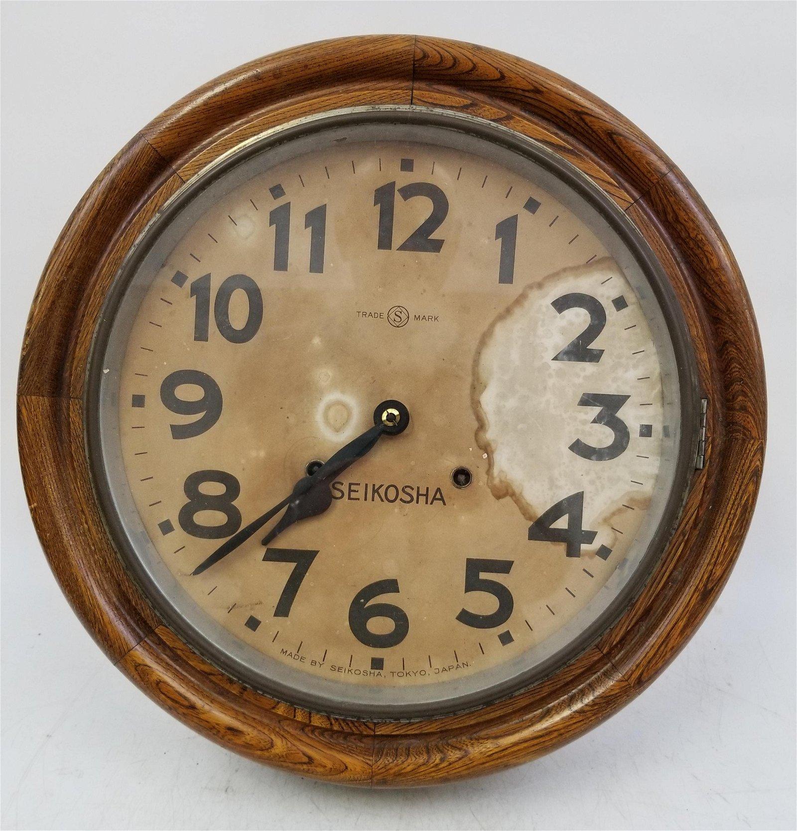 Extremely Rare Antique Seiko (Seikosha) Wall Clock