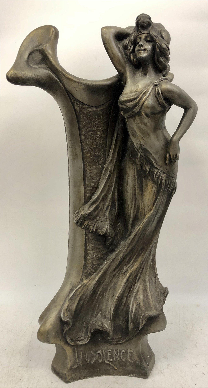 Clara Pfeffer Art Nouveau Vase/Sculpture