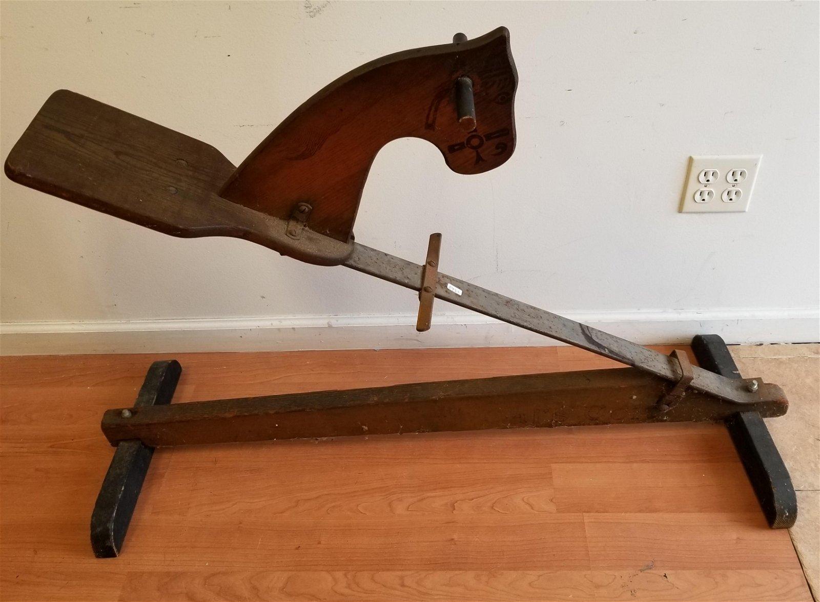 Rare Unusual Vintage Childs Rocking Horse