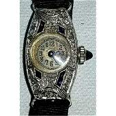 18K Gold  Platinum Top Art Deco Diamond Watch