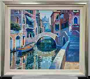 Large Painting Oil on Canvas by Howard Behrens.