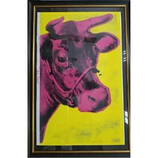 Screen Print; Andy Warhol Trim Cow.