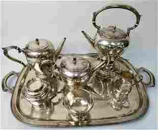 Rare American Sterling Silver 8 Piece Tea & Coffee
