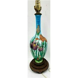 Antique Japanese Cloisonne Vase Made into a Lamp.