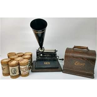 Antique Original Edison Gem Small Phonograph.