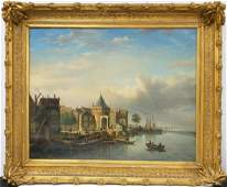 Magnificent Antique 19thC Painting Oil on Canvas