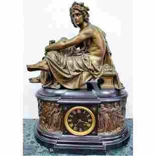 Monumental Tiffany & Co. Bronze & Marble Clock