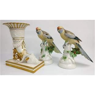 3 Old Mottahedeh Porcelain Items