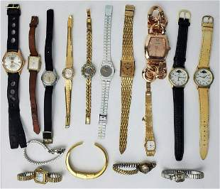 16 Piece Group of Vintage Watches