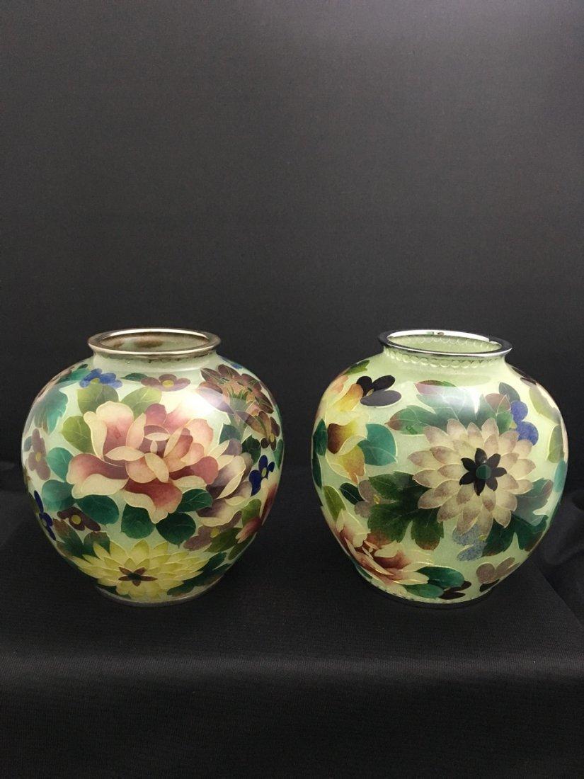 Near Pair of Japanese Vases
