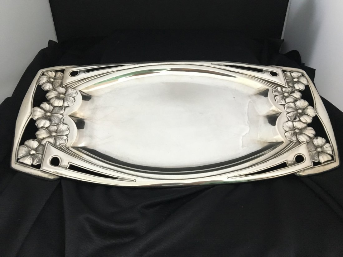 French Large Silver Tray