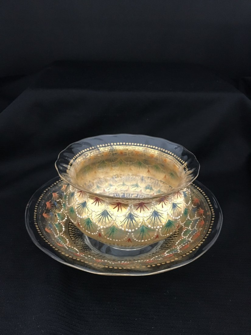 Italian Enameled Bowl and Plate