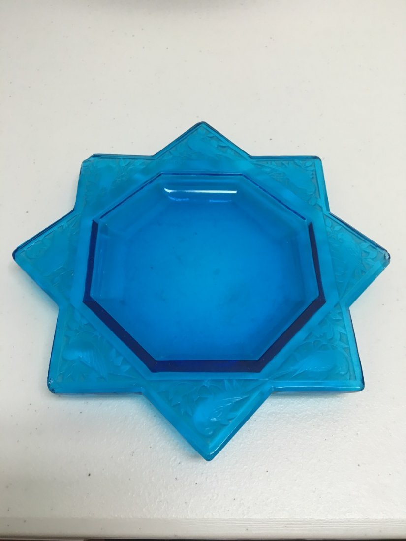 R. Lalique Small Blue Tray