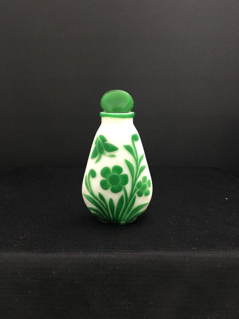 Chinese Peking Cameo Glass Perfume Bottle - 2