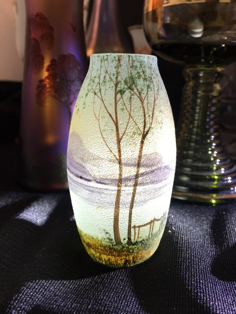 Variety of Nine Art Glass Vases - 3